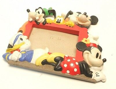 Vintage Disney Mickey Mouse 3D Picture Frame Goofy, Minnie, Donald, Pluto AB1