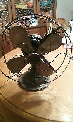 "Robbins & Myers Electric Fan 12""  Brass Vintage Antique Old Motor,  Ohio Great"