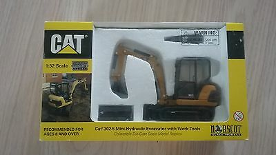 CAT 302.5 MINI HYDRAULIC EXCAVATOR 1:32 Scale Diecast by Norscot