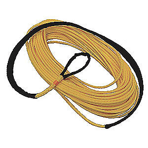 ALL GEAR Winch Line,Synthetic,3/8 In. x 150 ft., AG12SS38150, Yellow
