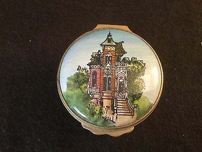 Halcyon Days Enamels Box San Francisco Victorian House Made For Gumps