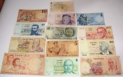 ISRAEL POUNDS  Different  F  VG 1958  68 73 78 79   13 PCS  /542