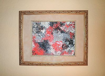 California Mid-Century Modern Abstract Expressionism Oil Painting~Terry Mellon