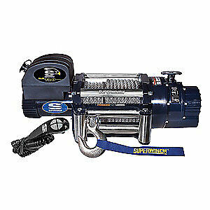 SUPERWINCH Electric Winch,5-1/5HP,12VDC, 1614200