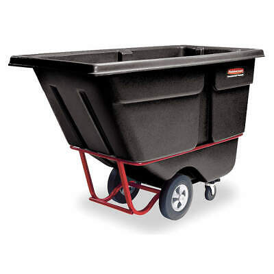 RUBBERMAID Tilt Truck,Heavy-Duty,1/2 cu. yd,1400 lb, FG130600BLA