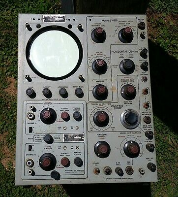 Rare Vintage Jetronics Industries AN-USM-81 Military Oscilloscope Partsor Repair