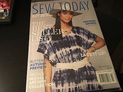 The Essential Sewing Magazine Sew Today Latest Issue July/august 2017