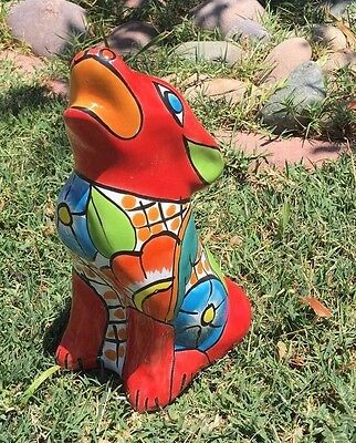 Talavera Red Coyote From Mexico New And Rare Collection