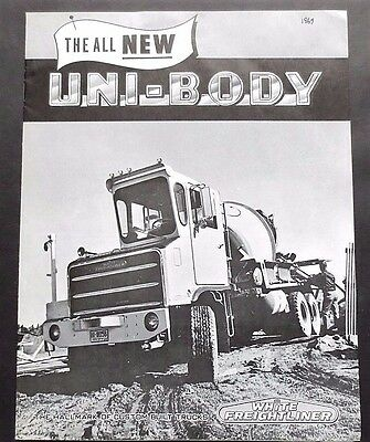 1969 White Freightliner Uni-Body Specialty Truck  Brochure ~8 Pages  69Wfub