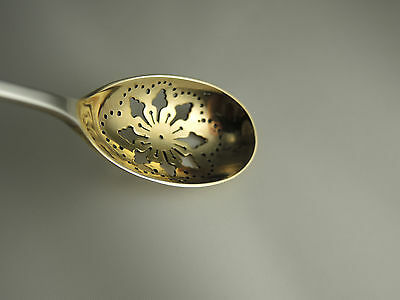 CLINTON BY TIFFANY & CO Sterling Gold Wash Pierced Olive Spoon – circa 1912