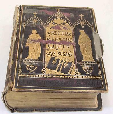 Leather Bound Book Fathers Martyrs and Queen of the Holy Rosary#12231
