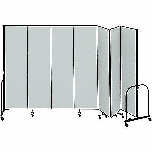 SCREENFLEX Partition,13 Ft 1 In W x 8 Ft H,Gray, CFSL807 GREY, Gray