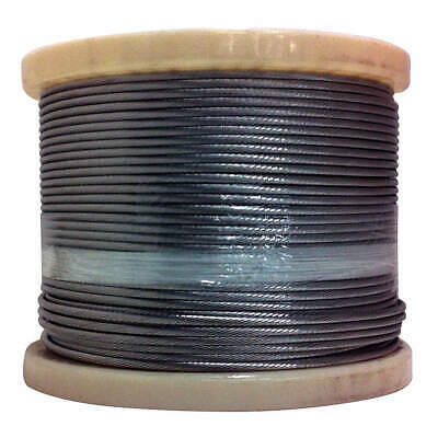 C. SHERMAN JOHN Stainless Steel Cable,3/16 in.,1 x 19,500 ft.,1400 lb., 119316-5