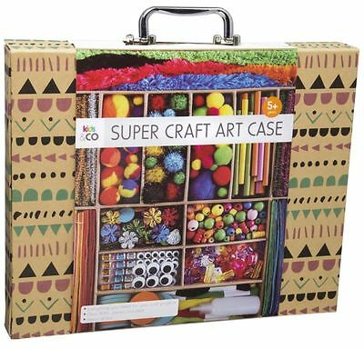 Super Craft Art Case Kids Kit Fun Set Easy Colours Gift Brand New Free Shipping