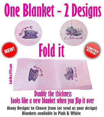 Personalised Coral Fleece Blanket