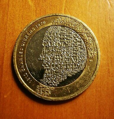 Charles Dickens 2012 £2 Two pound coin Very rare Royal double Mint error