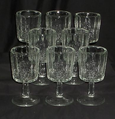 "8 Westmoreland PANELED GRAPE CRYSTAL *6"" WATER GOBLETS*PG14*"