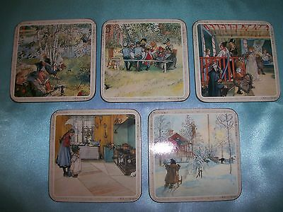 Pimpernel Cork Backed Coasters Victorian Country Life Set of 5