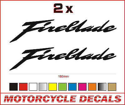 "2 x FIREBLADE Stickers / Decals (180mm / 7"") Honda CBR PREMIUM QUALITY VINYL"