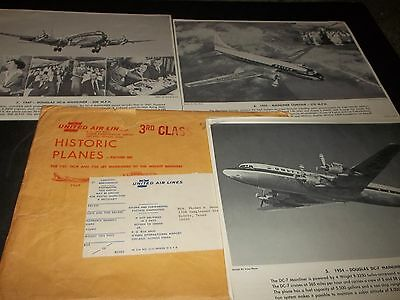 Vintage United Airlines Lot 15 Historic Planes Pictures Douglas DC Boeing Ford