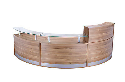 Curved Radius Reception Counter / Desk | 3 Section LHR,LHR,FHR | Various Colours