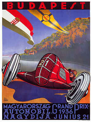 Budapest Grand Prix 1936  Metal Sign