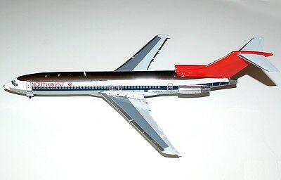 """1:200 Inflight Jet-X NORTHWEST AIRLINES Boeing 727-200 """"Chrome"""" N280US RARE!"""