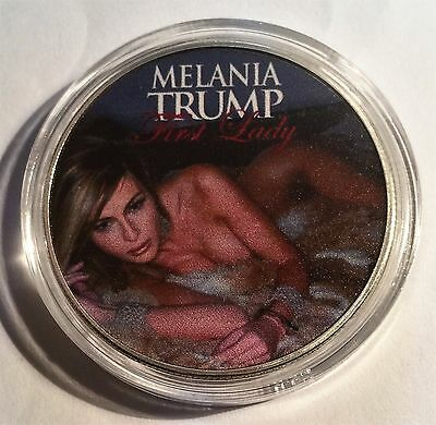 2017 Melania Trump (First Lady) USA Coin, 999 Silver Plated in Capsule
