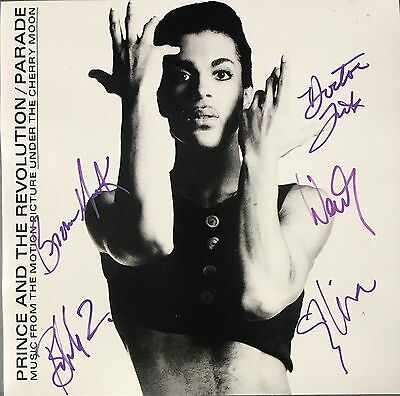 The Revolution Signed Autographed 12x12 Flat Purple Rain By All 5 Parade Prince