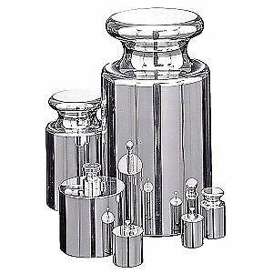 RICE LAKE Stainless Steel Calibration Weight Set w/cert, 100g-1g, 11913CA