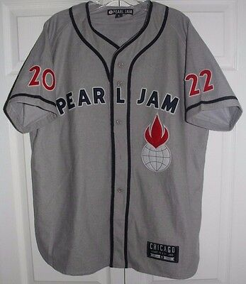 Pearl Jam Wrigley Field Chicago Baseball Jersey Size Large Vedder 2016