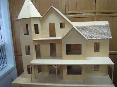 DIY Victorian Miniature Wooden Dollhouse Mansion with all supplies and furniture