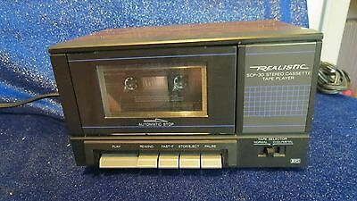 Vintage Realistic SCP-30 Stereo Cassette Tape Player w/ Wood Grain *READ*