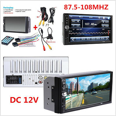 """7"""" Touch Screen Car Radio Audio Stereo MP5 Player FM Bluetooth+Rear View Camera"""