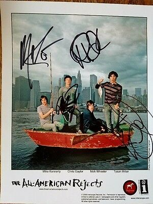 All American Rejects Autographed 2006 Color 8x10 Publicity Photo