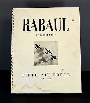 WWII RABAUL US 5th Air Force w Letter frm General to Mother of Bombardier/1st Ed
