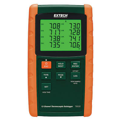 EXTECH Thermocouple Datalogger,12 Channels, TM500