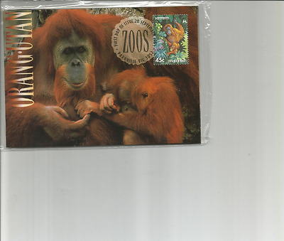 1994 Maxi Cards Zoos Of Australia Set Of 5 Maxi Cards Inc Postage Prepaid