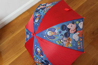 Disney Mickey Mouse Red Umbrella Kids Little Boys Baby Toddler Children Cartoon