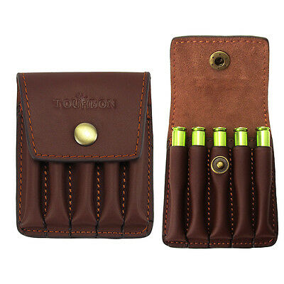 Tourbon Rifle Ammo Holder Bullet Case Cartridges Pouch Vintage Leather for .308