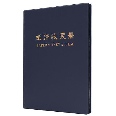 New 60 Paper Money Note Holders Collection Album Book Collecting Storage blue