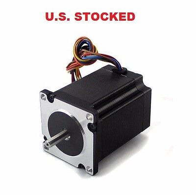 1Pcs NEMA23 270oz/in 2.8A 1/4″ Dual Shaft Stepper Motor (KL23H276-28-4B)