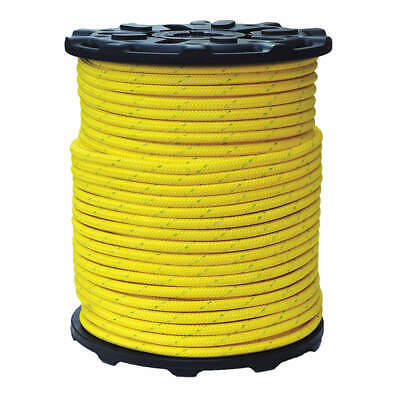 ALL GEAR Bull Rope,PES/Nylon,9/16In. dia.,600ft L, AGBR916600, Yellow