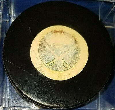 NHL BUFFALO SABRES ART ROSS CONVERSE SCREENED LOGO PUCK CCM vintage made in usa