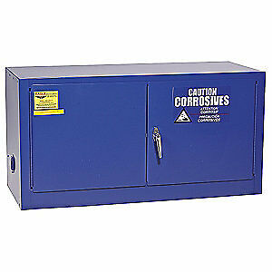 EAGLE Galvanized Steel Corrosive Safety Cabinet,22-1/4 In. H, 4HPW8, Blue