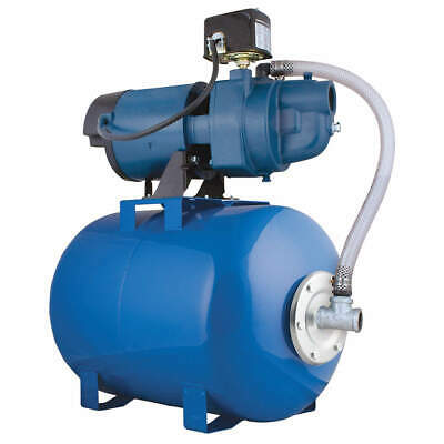 FLINT & WALLING Well Jet Pump System,1/2 HP,8.5 gal tank, EK05SAT25H