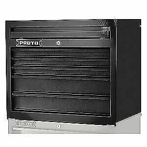 PROTO Steel Top Chest,Black,27 in.W,23in.H,5 Drawers, J542719-5DB, Black