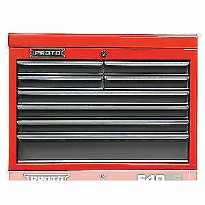 PROTO Steel Top Chest,27 in. W,8 Drawers, J542719-8SG, Red