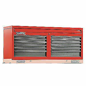 PROTO Steel Top Chest,54 in. W,12 Drawers, J545423-12SG, Red