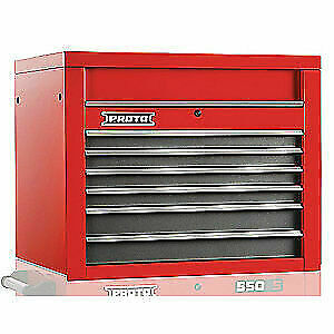 PROTO Steel Top Chest,34 in. W,6 Drawers, J553427-6SG, Red